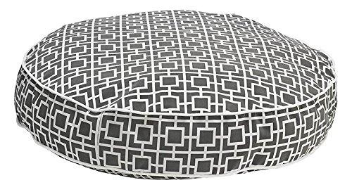 Round Dog Bed, Medium - 36 L x 36 W, Gray