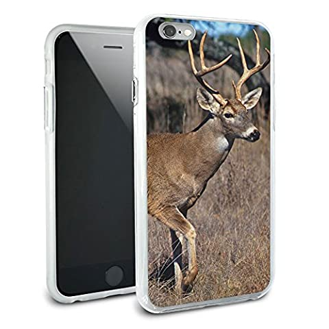 Deer - Hunting Protective Slim Hybrid Rubber Bumper Case for Apple iPhone 6 6s Plus (FITS PLUS MODEL (Iphone 6 Case Otterbox Hunting)