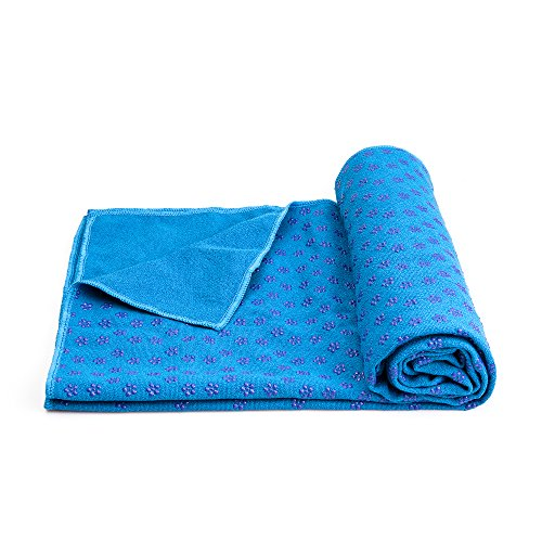 Mansov Yoga Mat Towel 72 inch x 24 inch Long Non Slip Yoga Mat Towel With Carrying Mesh Bag, Mat Cover for Bikram, Hot Yoga, Fitness, Exercise, Machine Washable
