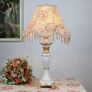 dee luz mesa rústica con pantalla de tela Flores Elegante cuerpo ...