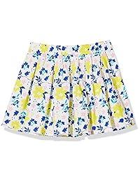 A para impresionante Allover floral impreso falda plisada de niñas