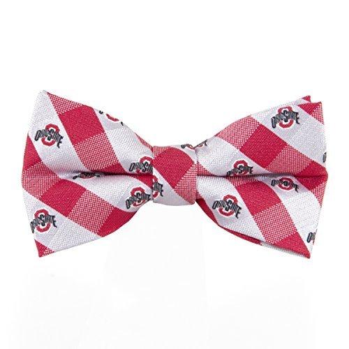 - Ohio State Buckeyes Checked Logo Bow Tie - NCAA College Team Logo
