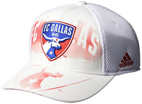 (MLS FC Dallas Adult Men MLS SP17 Fan Wear White Out Structured Adjustable Cap,OSFM,White)