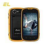 EL W5 Rugged Unlocked Smartphone with Wateproof IP68 Dustproof 4G LTE Android 6.0 Unlocked Outdoor Phones -【AT&T/T-Mobile 】(Yellow)