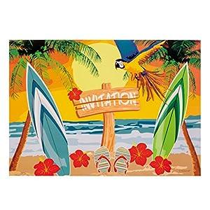 Amakando Convocazione con Busta Festa in Spiaggia | 6 Cartoline di invito Beach Party | Decorazione Festa Hawaii… 5 spesavip