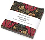 Morris Earthly Paradise Charm Pack by Barbara Brackman; 42-5 inch Precut Fabric Quilt Squares