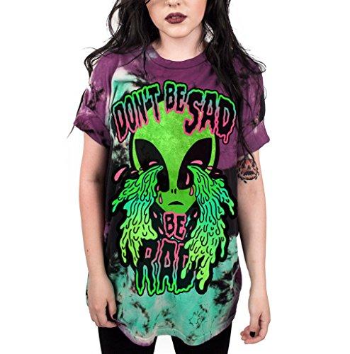 Pants Ufo (CORIRESHA Coli&Tori Street Style UFO Alien 3D Digital Print T-Shirt,Don't Be Sad,X-Large)