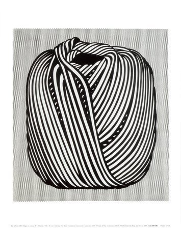 Ball of Twine, 1963 Art Poster Print by Roy Lichtenstein, 11x14 by AllPosters US