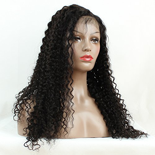 Brazilian Remy Hair 130% Density Full Pre Plucked Natural Hairline Loose Deep Curly Long Human Hair Lace Front Wigs for African American Black Women Black Women with Baby Hair 14inch by Sarah Wig (Image #7)