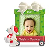 "Hallmark Keepsake Baby's First 2016 ""Beary Cute"" Dated Picture Frame Holiday Ornament"