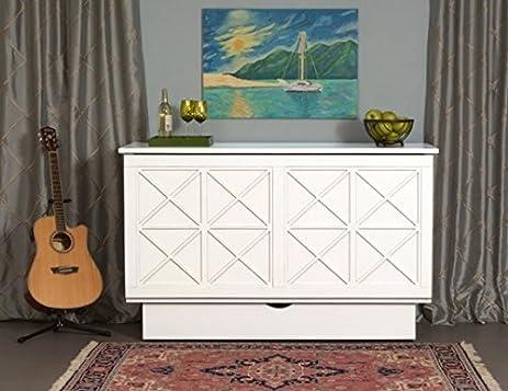 Amazon.com: Arason Essex Creden-ZzZ Cabinet Bed (White): Kitchen ...