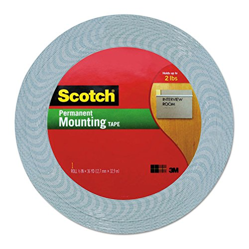 (Scotch 401612 Double-Coated Foam Tape, 1/2
