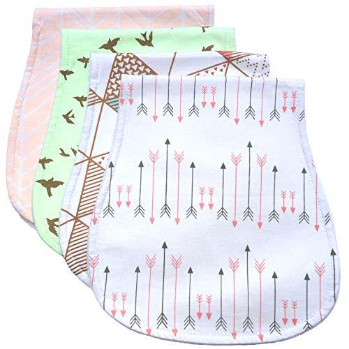 Burp Cloths, Burp Rags for Boy Girl Newborn Baby | Gift, Registry, Baby Shower | 100% Organic Cotton | Gender Neutral | Pack of 4