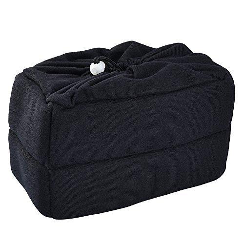 ALLCACA Waterproof Camera Insert Bag Shockproof Camera Inner Case High-capacity Camera Partition Bag with Detachable Dividers, Suitable for Digital Single Lens Reflex, Black (Velvet - - Partition Soft Case