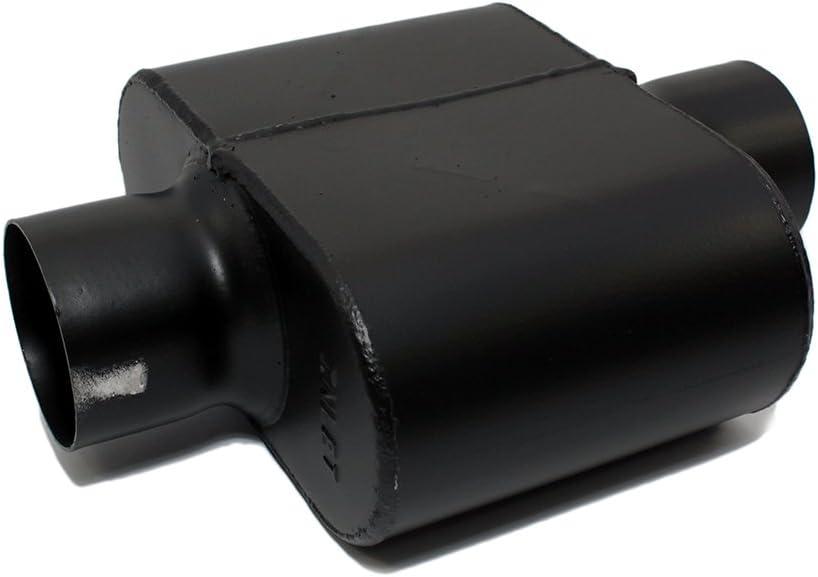 Assault Racing Products 8043010 Single Chamber Race Muffler 3 Center Inlet 3 Center Outlet