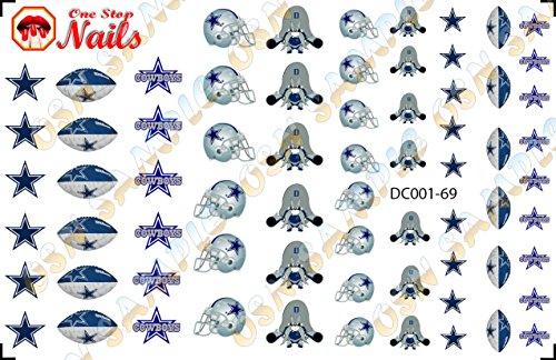Dallas Cowboys Waterslide nail decals (Tattoos) V1 (Set of 69) -