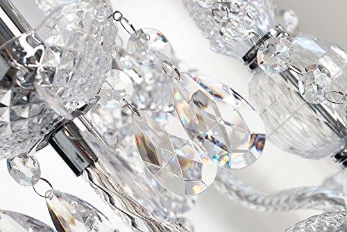 Kronleuchter 9 Flammig Kristall ~ Großer kronleuchter 9 flammig königlicher lüster klar acrylglas e14