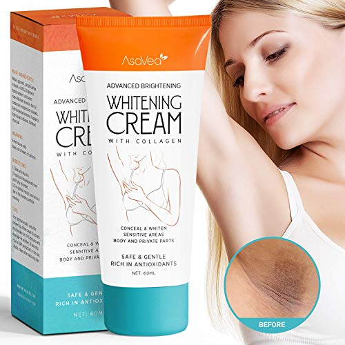 Underarm Whitening Cream,Lightening Cream Effective for Lightening & Brightening Armpit, Knees, Elbows, Sensitive & Private Areas, Whitens, Nourishes, Repairs & Restores Skin by Asavea ()