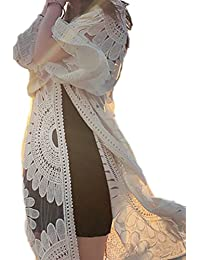 Women's Embroidery Lace Silk Yarn Seven sleeves Cardigan Sunscreen