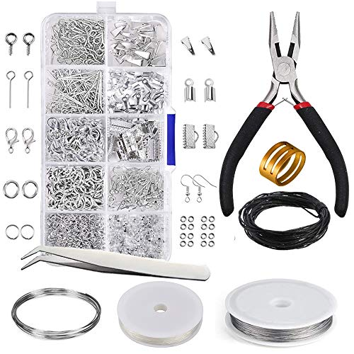 - AKWOX 907PCS Jewelry Making Kit - Jewelry Repair Tool with Accessories Jewelry Pliers Jewelry Findings Starter Kit Jewelry Beading Making Wires Kit for Adults and Beginners DIY