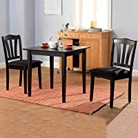 Metropolitan 3 Piece Dining Set Finish: Black