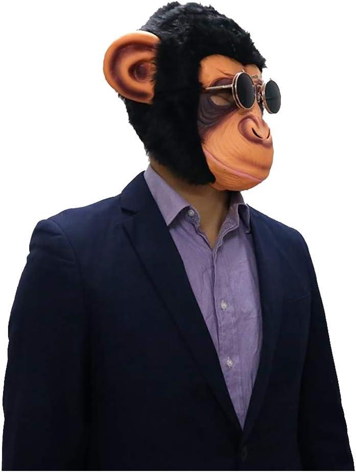 Amosfun Chimp Mask novit/à Halloween Costume Party Animal Head Mask Monkey Copricapo Orangutan Maschera Scary Party Mask Divertente Halloween Masquerade Mask