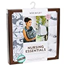 Bebe au Lait Premium Cotton Nursing Essentials Set, Chateau Silver