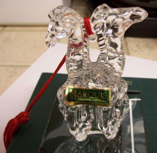 Waterford Marquis Two by Two Noah's Ark Giraffes Ornament