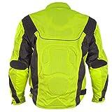 Xelement CF-6019-66 'Invasion' Men's Neon Green Mesh Armored Motorcycle Jacket - X-Large