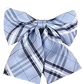 Ladies Adjustable Pre-tied Bow Tie Solid Color Bowties for Women