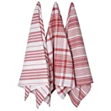 Now Designs Jumbo Pure Kitchen Towel, Red, Set of 3