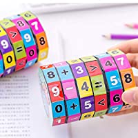 Sinwo New Children Kids Mathematics Numbers Magic Cube Toy Educational Toy Puzzle Game Gift