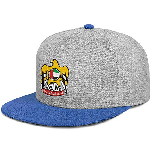 Unisex United Arab Emirates Emblem Hip Hop Flat-Brim Baseball Caps Snapback Adjustable Hat ()