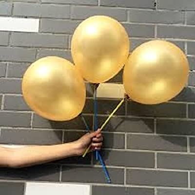 "C-Spin - 25 pcs 12"" Balloons 12 Inches Thickness Latex Balloon For Party Wedding Christmas New Year Birthday Cinco de Mayo Party Bridal Baby Shower Decoration Supplies (Gold): Office Products"