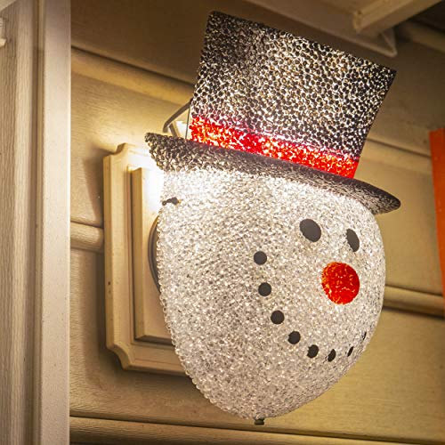 Besti Snowman Porch Light Cover Holiday and Christmas Decorations | Flexible, Weather-Resistant Acrylic | No Tools or Installation Required | Fits Standard Outdoor Lighting