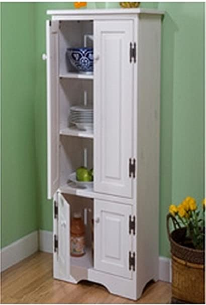 Amazon.com: Extra Tall Kitchen Cabinet   Weathered White   Has One Fixed  And Two Adjustable Shelves By Simple Living: Kitchen U0026 Dining