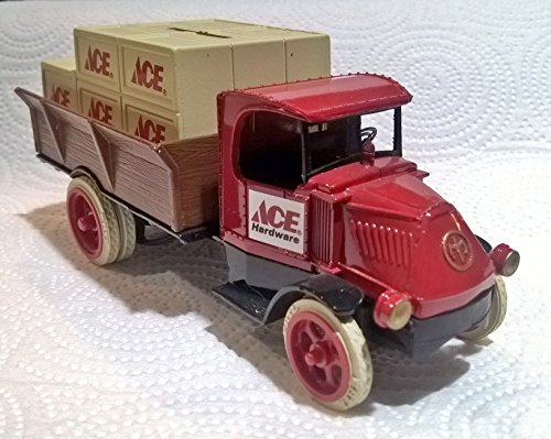(Die Cast Metal 1926 Mack Bulldog Truck Bank with Crates ACE Hardware)