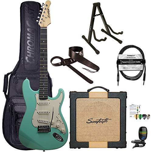 Sawtooth Classic ES60 Surf Green Guitar Players Pack