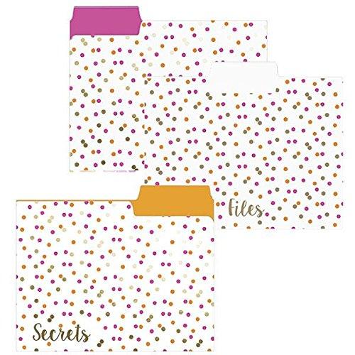 Neon Dots File Folder Set