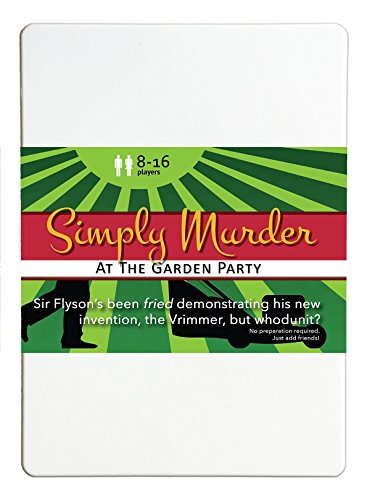 Price comparison product image Simply Murder at the Garden Party 8-16 Player Murder Mystery Flexi Party Game