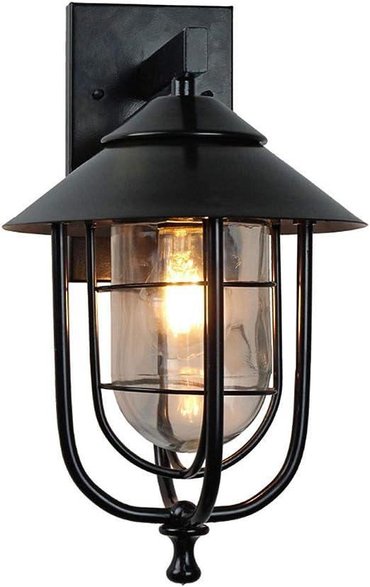 Hasayo Faroles Exterior Apliques De Pared Descendente Iluminación Negro E27 Lampara Jardin A Prueba De Lluvia LED (Color : Black): Amazon.es: Hogar