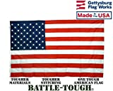 5×8′ Battle-Tough US Flag, All-Weather Nylon, Made in USA by Gettysburg Flag Works For Sale