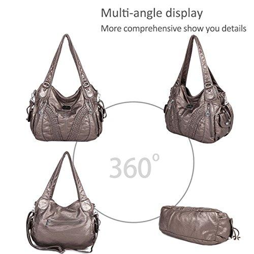 Bag 7 Hobo DORIS amp; Handbag Crossbody Shoulder NICOLE Gray Casual Woman wvPAIx4q