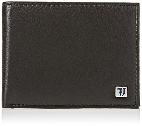 Leather man wallet TRUSSARDI JEANS Article 71W00004 1Y090449 WALLET CREDIT CARD COIN POCKET BICOLOR at Amazon Mens Clothing store:
