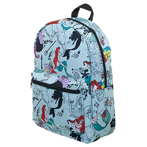 Disney The Little Mermaid Sublimated Print Backpack -