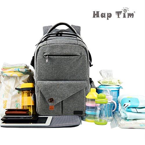 haptim multi function large baby diaper bag backpack w stroller straps insulated pockets. Black Bedroom Furniture Sets. Home Design Ideas