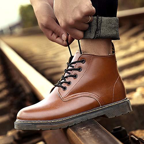 Brown Zyuq Chaussures A De Travail Martin Bottes Couples D'aide L'armée D'hiver Pour Hommes Hautes 7wx7arYqH