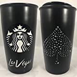 Starbucks Las Vegas Blvd Collectible Tumbler with Crystal Spade on Side