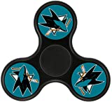 YHQ San Jose Ice Hockey Team Sharks Logo Fidget Spinner Toy 2017 Popular Cool NEW ARRIVAL Ultra Durable Fast& Long Time Tri-Hands Controlling Stress Reducer EDC Focus For ADD ADHD Pocket(BLACK)