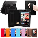 Nexus 7 Case, Snugg™ - Smart Cover with Flip Stand & Lifetime Guarantee (Black Leather) for Nexus 7